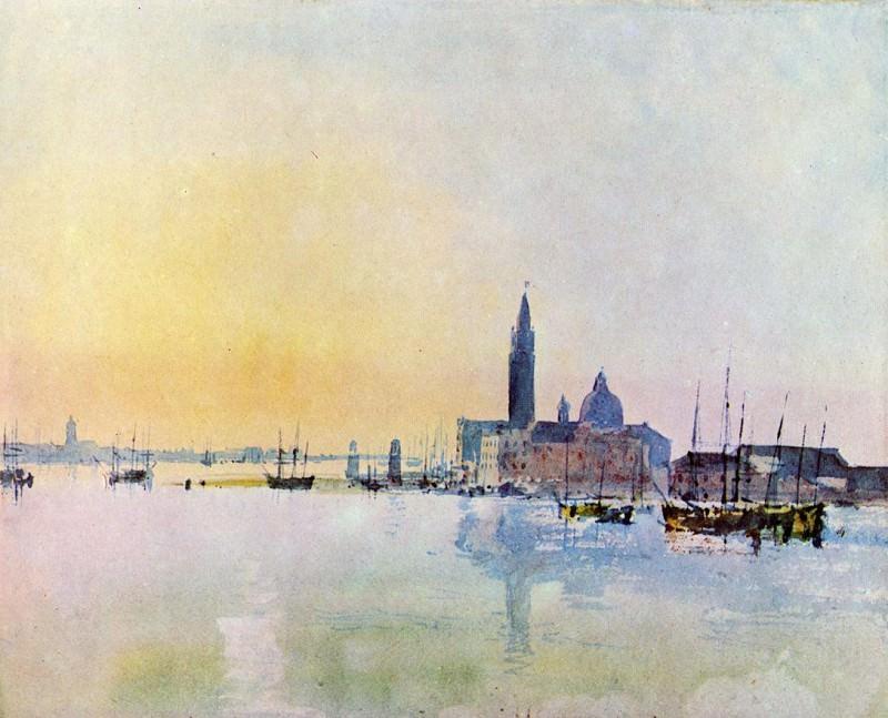 Turner Joseph Mallord William Venice San Guirgio from the Dogana Sunrise. Joseph Mallord William Turner