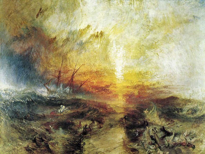 Turner Joseph Mallord William Slavers Throwing Overboard the Dead and Dying Typhon Coming on. Joseph Mallord William Turner