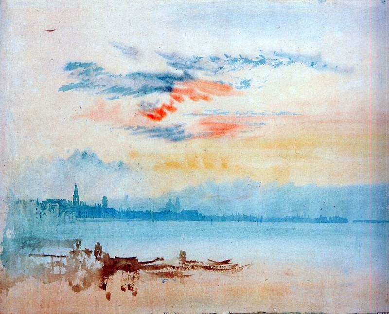 Turner Joseph View to the east from Giudecca Sun. Joseph Mallord William Turner
