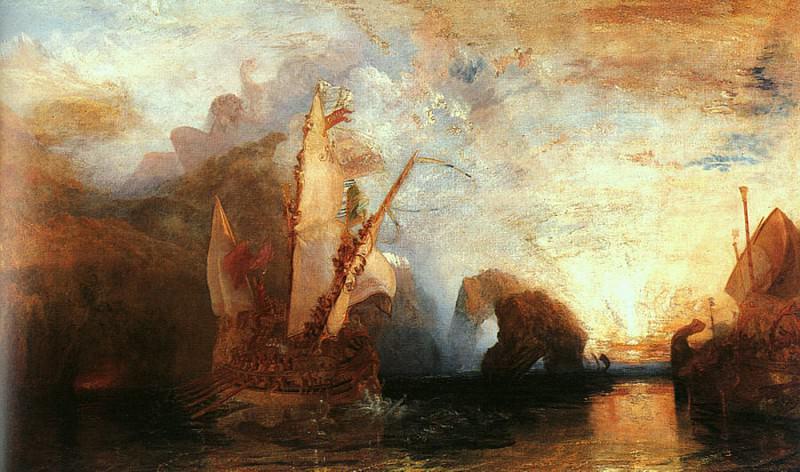 Turner Joseph Ulysses Deriding Polyphemus 1829. Джозеф Уильям Мэллорд Тёрнер