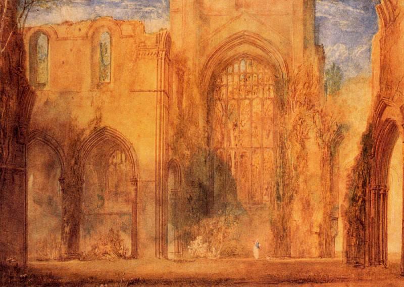 Turner Joseph Mallord William Interior of Fountains Abbey Yorkshire. Joseph Mallord William Turner