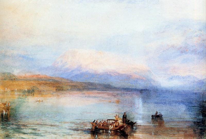 Turner Joseph The red Righi Sun. Joseph Mallord William Turner