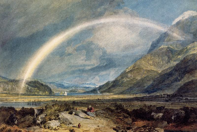 Turner Joseph Mallord William Kilchern Castle with the Cruchan Ben mountains Scotland Noon. Joseph Mallord William Turner