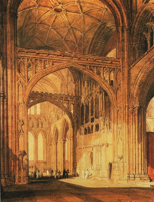 Turner Joseph Mallord William Interior of Salisbury Cathedral. Joseph Mallord William Turner