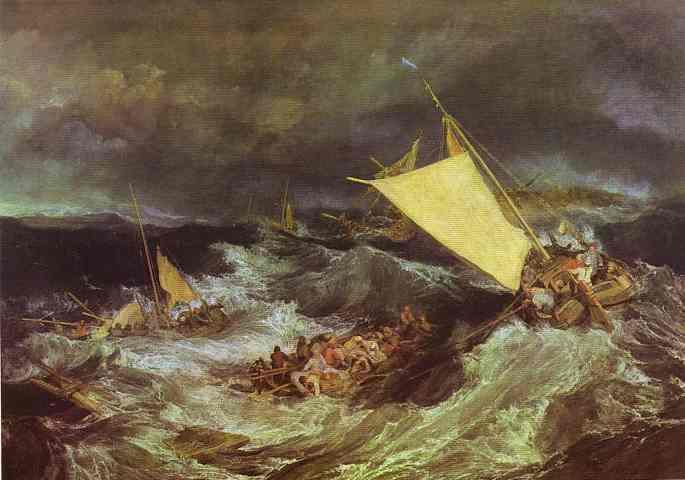 William Turner - The Shipwreck. Joseph Mallord William Turner