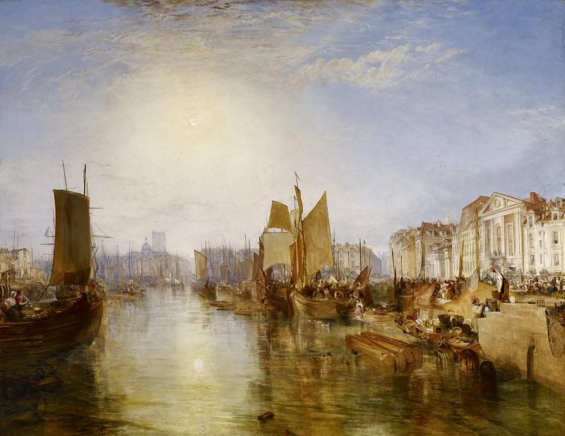 Джозеф Мэллорд Уильям Тёрнер - Гавань в Дьеппе. Joseph Mallord William Turner (The Harbor of Dieppe)