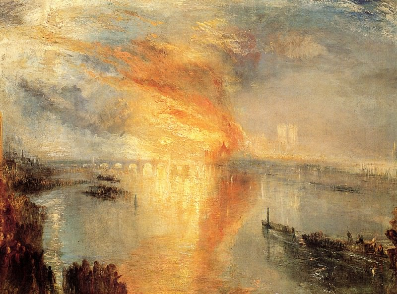 Turner Joseph Mallord William The burning of the house of Lords and commons. Joseph Mallord William Turner