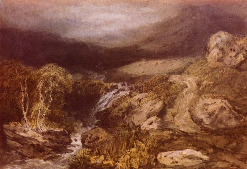 Turner Joseph Mallord William Mountains Stream, Coniston. Joseph Mallord William Turner