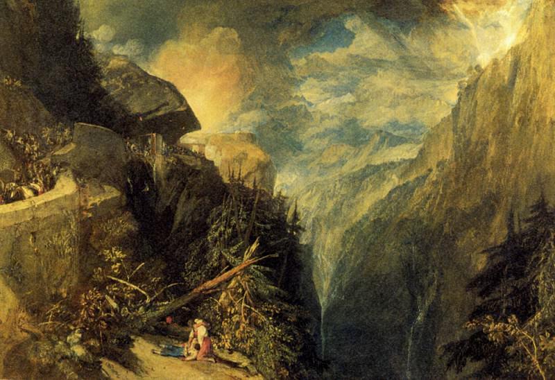 Turner Joseph Mallord William The Battle of Fort Rock Val d-Aoste Piedmont. Джозеф Уильям Мэллорд Тёрнер