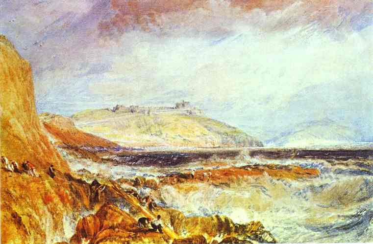William Turner - Pendennis Castle, Cornwall Scene after a Wreck. Joseph Mallord William Turner