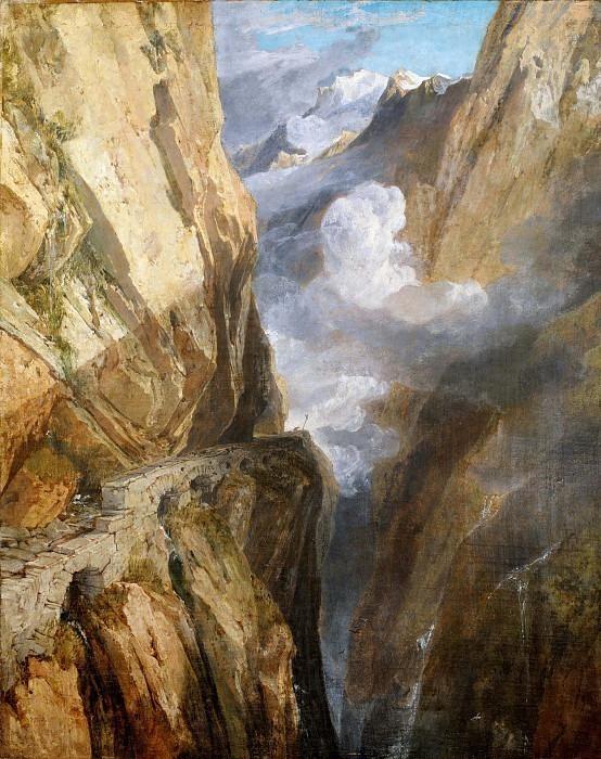 The Pass of Saint Gotthard, Switzerland. Joseph Mallord William Turner