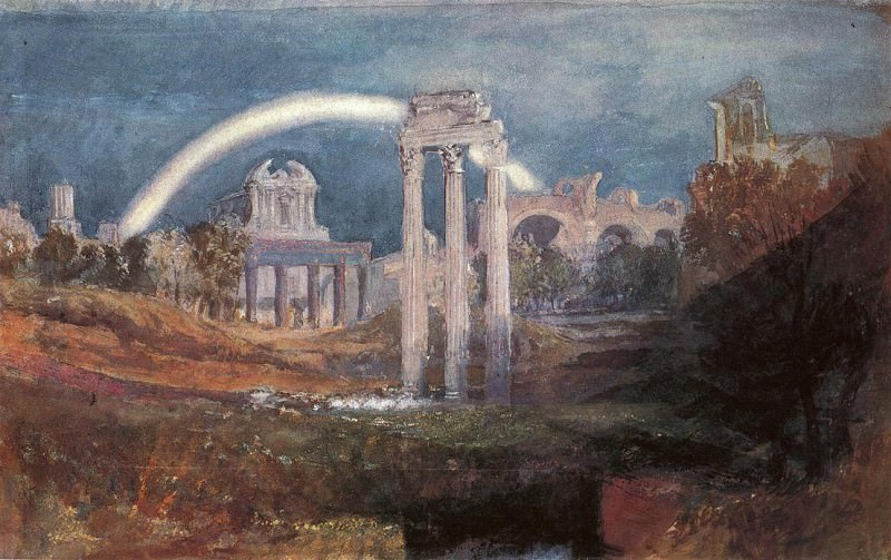 Turner Joseph Mallord William Rome The Forum with a Rainbow. Joseph Mallord William Turner