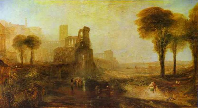 William Turner - Caligulas Palace and Bridge. Joseph Mallord William Turner