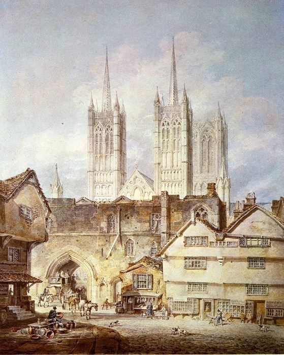 Cathedral Church at Lincoln. Joseph Mallord William Turner