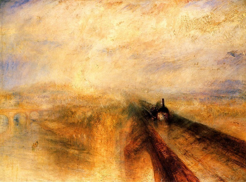 Turner Joseph Mallord William Rain Steam and Speed the Great Western Railway. Joseph Mallord William Turner
