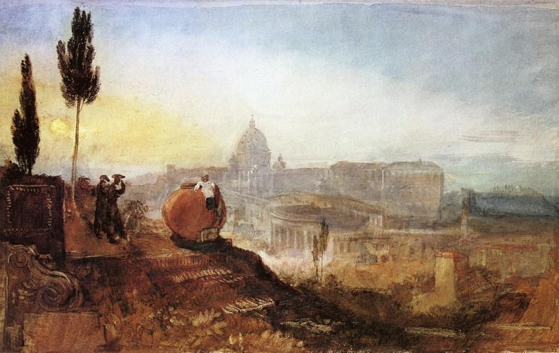 Turner Joseph Mallord William Rome St. Peter-s from the Villa Barberini. Joseph Mallord William Turner