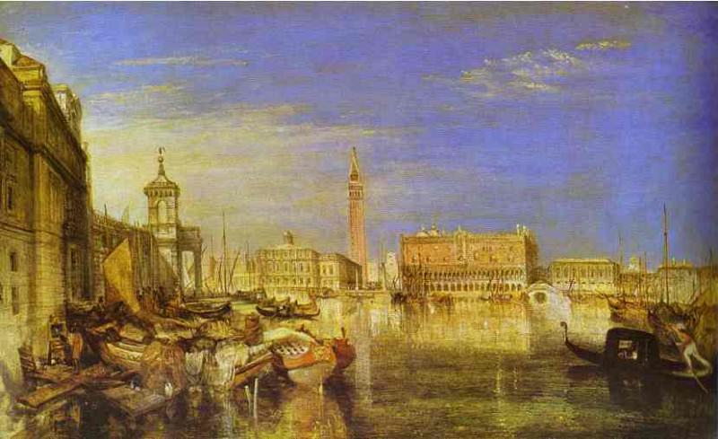 William Turner - Bridge of Signs, Ducal Palace and Custom-House, Venice Canaletti Painting. Joseph Mallord William Turner