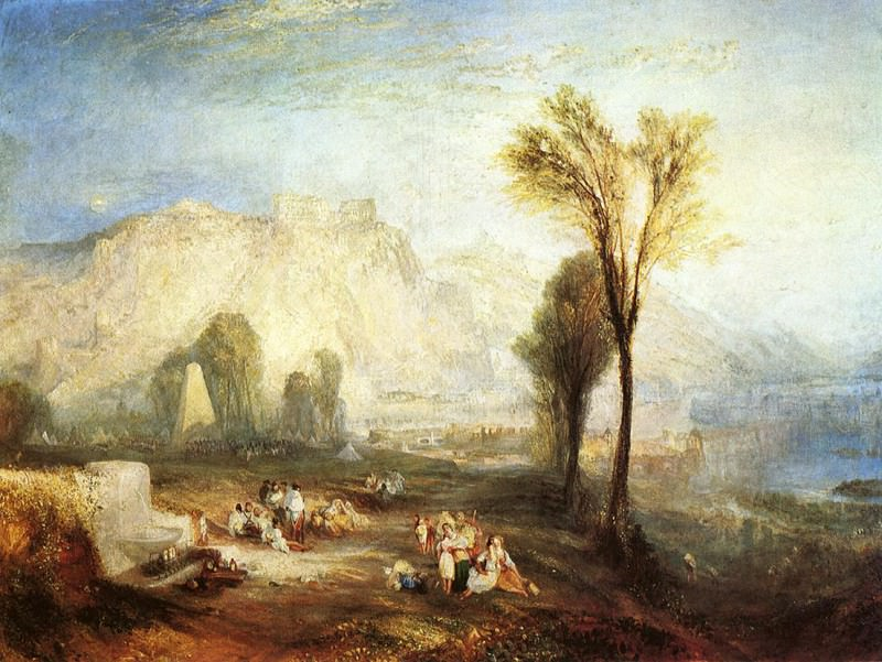 Turner Joseph Mallord William The Bright Stone of Honor Ehrenbrietstein and the Tomb of Marceau from Byron-s -Childe Harold-. Joseph Mallord William Turner
