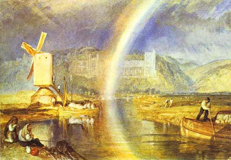 William Turner - Arundel Castle, with Rainbow. Joseph Mallord William Turner