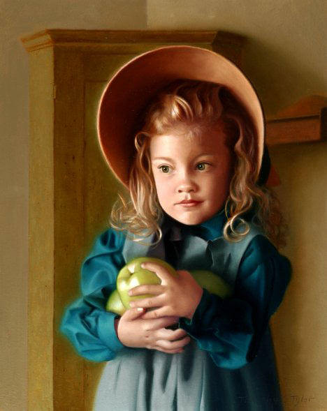 Tyler Timothy Girl with Apples. Тимоти С Тайлер