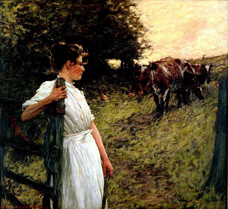 The Farmers Daughter. Henry Herbert La Thangue