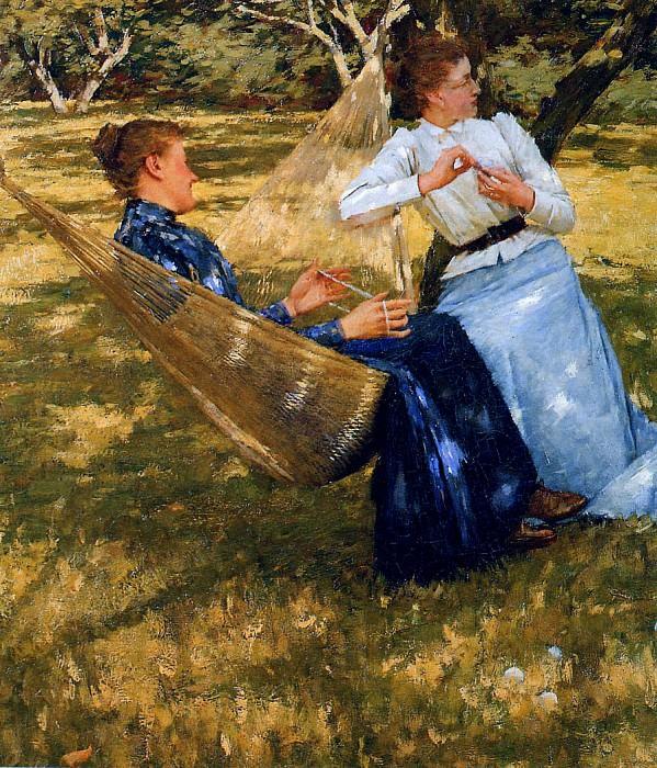 In the orchard. Henry Herbert La Thangue