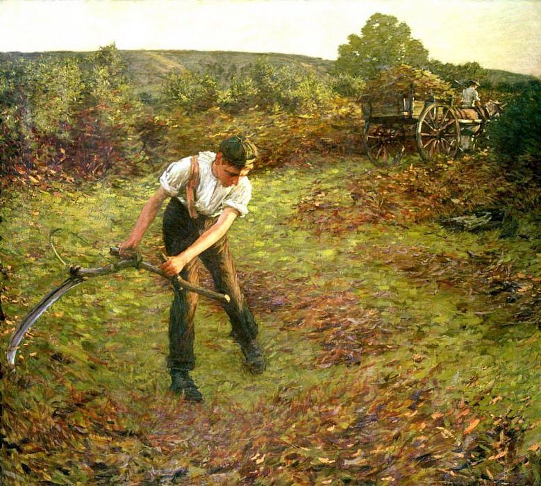 Mowing Bracken. Henry Herbert La Thangue
