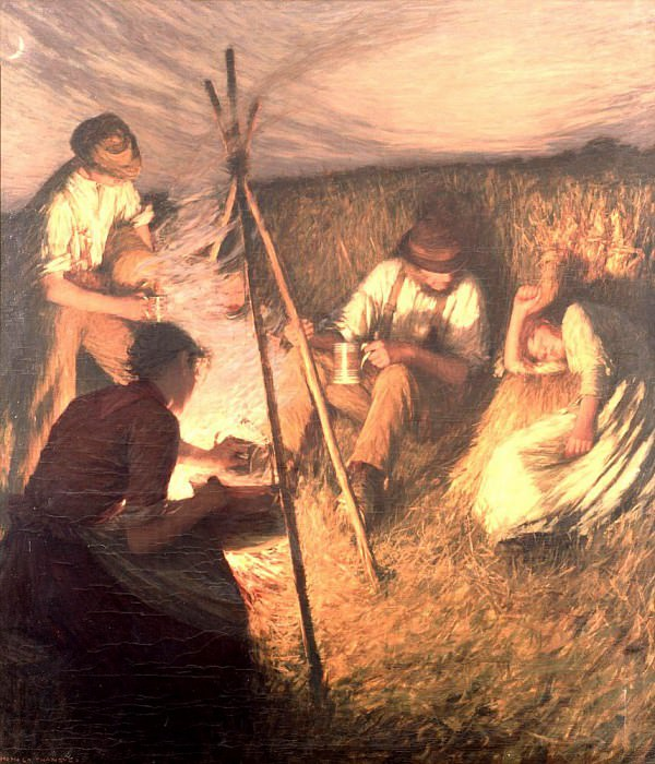 The Harvesters Supper. Henry Herbert La Thangue