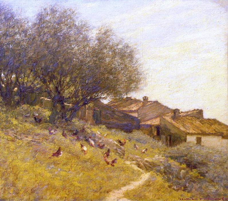 A Hillside Village in Provence. Henry Herbert La Thangue