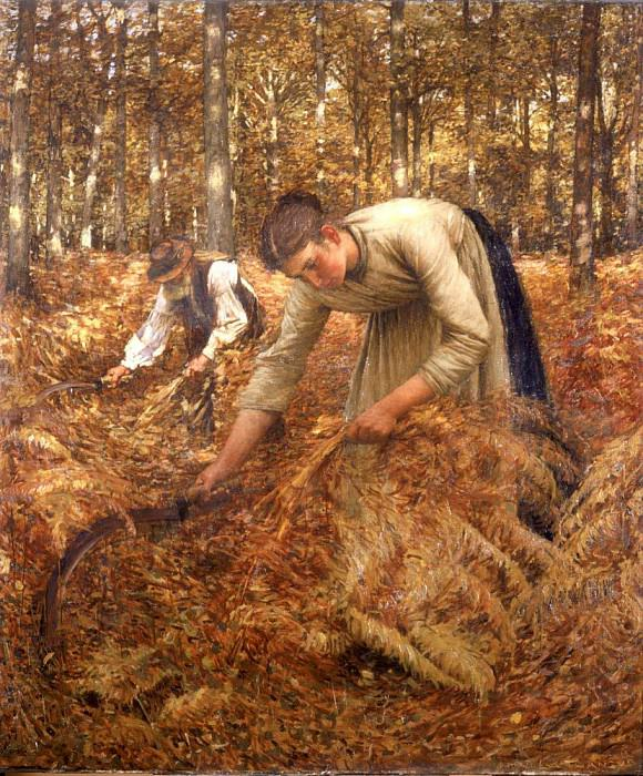 Gathering Bracken. Henry Herbert La Thangue