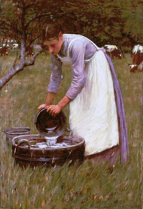Watering the Cows. Henry Herbert La Thangue