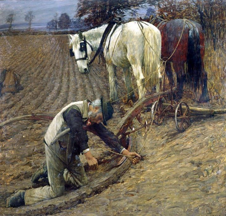 The Last Furrow. Henry Herbert La Thangue