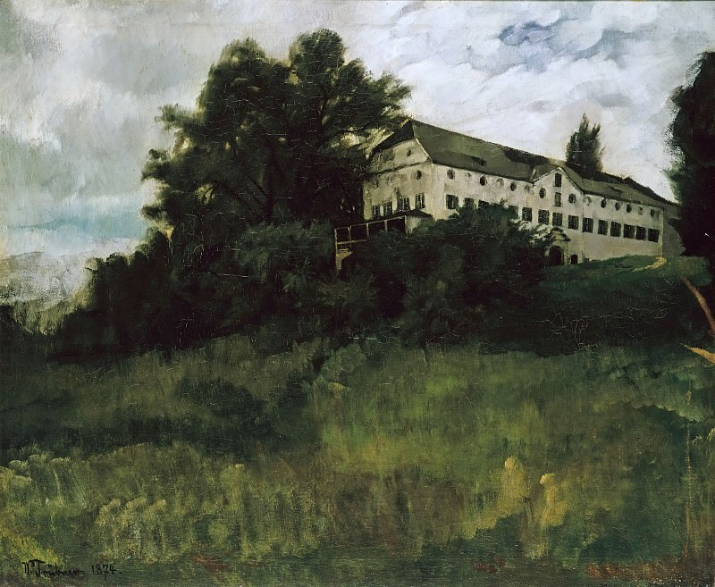 Monastery on the Herreninsel. Wilhelm Trubner