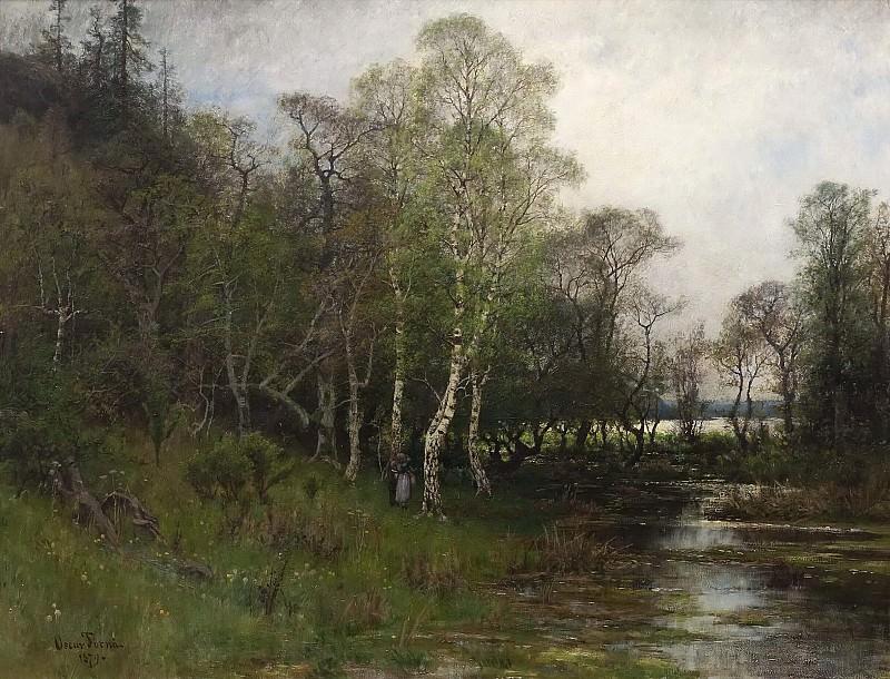 Spring Landscape. Motif from Tullinge in Södermanland. Oscar Emil Törnå