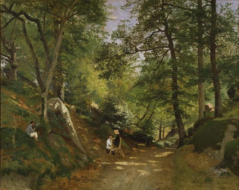Summer Landscape near Fontainebleau. Oscar Emil Törnå