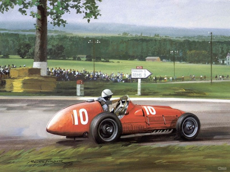 Cmamtcl 011 1951 gigi villorese third in the french gp. Michael Turner