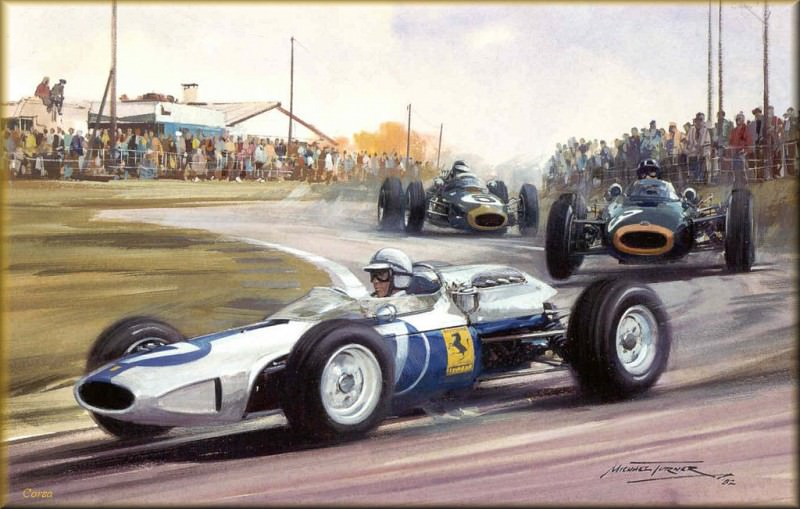 CorsaScan 020 Surtees In The NART Ferrari 1964. Michael Turner