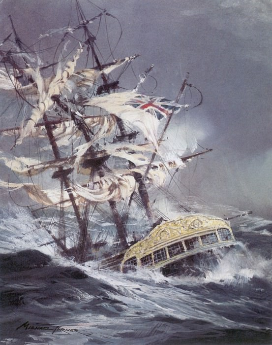 c mto the wreck of the lutine. Michael Turner