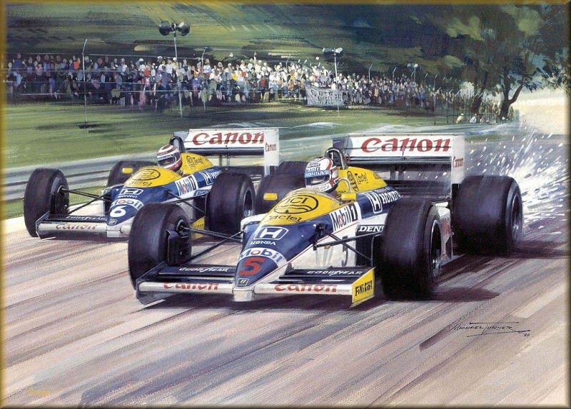 CorsaScan 036 Mansell And Piquet British GP 1986. Майкл Тернер