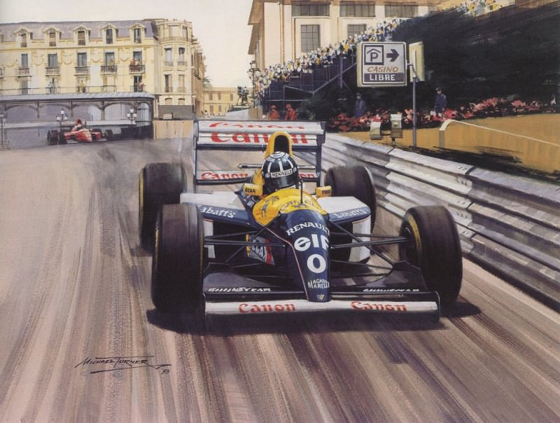 Cmamtmon 056 1993 record sixth monaco victory for senna. Michael Turner
