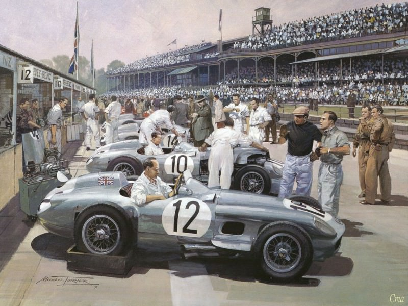 Cmamtcl 006 mercedes team british gp 1955. Michael Turner