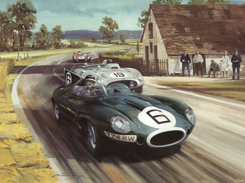 Cmamtcl 008 white house corner at le mans 1955. Michael Turner