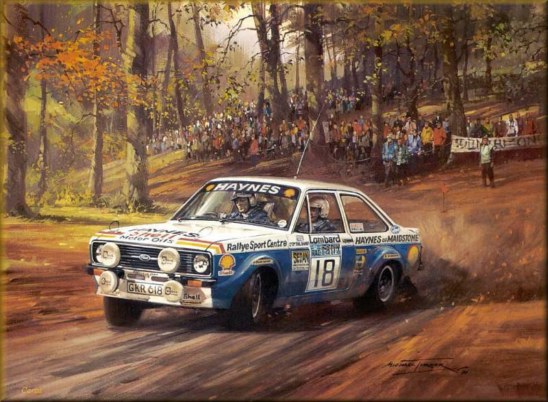 CorsaScan 032 RAC Rally Stage 1974. Майкл Тернер