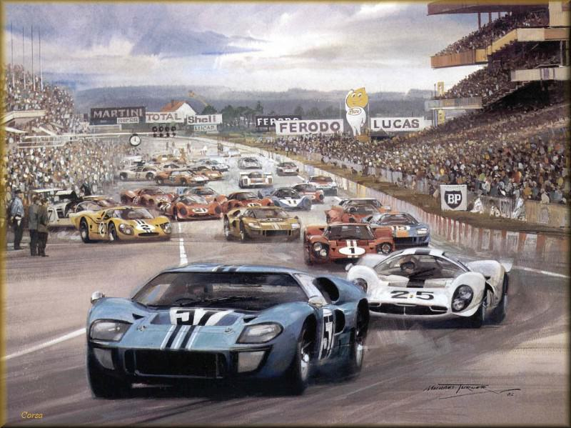 CorsaScan 023 Ford GT 40 Le Mans 1967. Michael Turner
