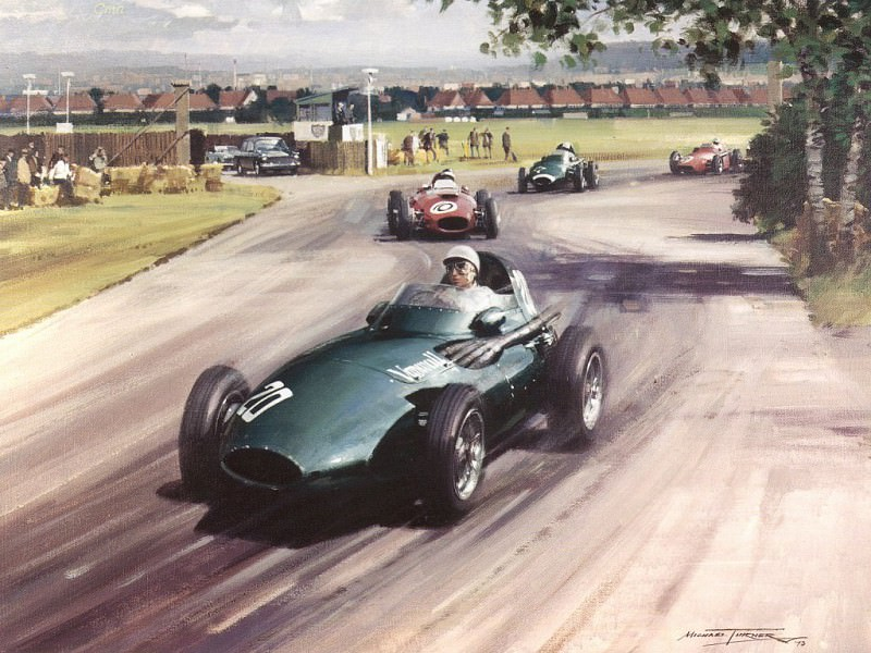 Cmamtcl 009 stirling moss in the winning vanwall. Michael Turner