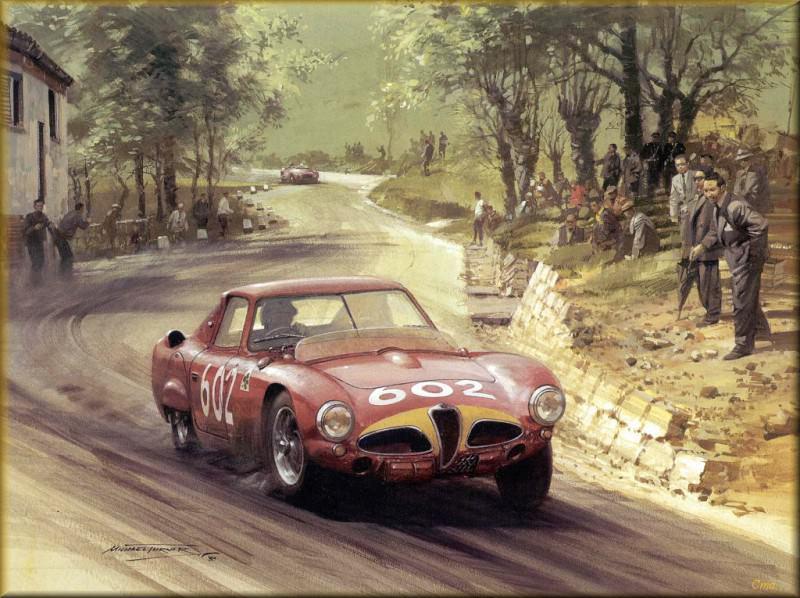 CorsaScan 002 Alfa Romeo 1953 Mille Miglia. Майкл Тернер
