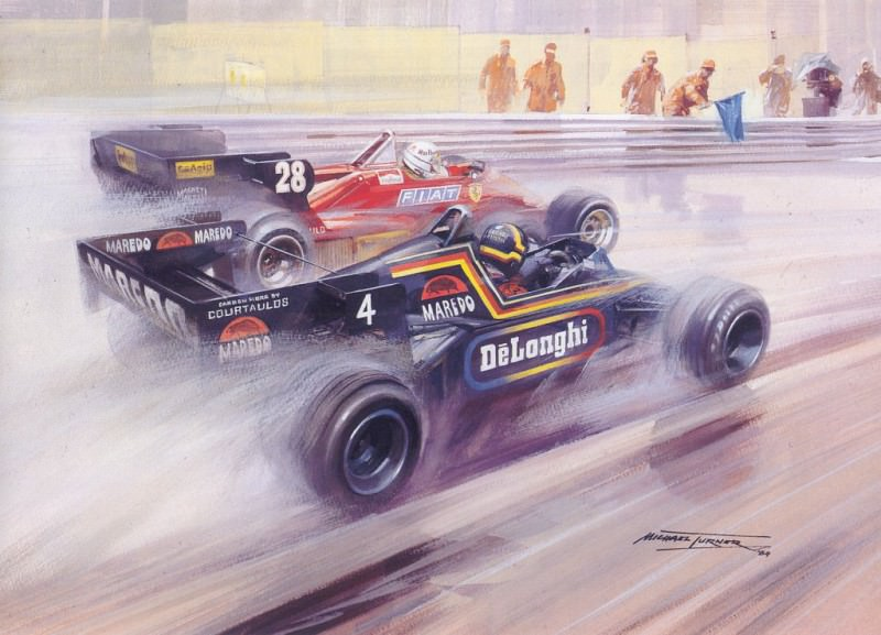 Cmamtmon 046 1984 alain prost paddles to his first victory. Майкл Тернер
