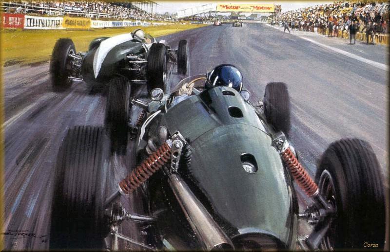 CorsaScan 015 Backside Graham Hill 1960. Майкл Тернер