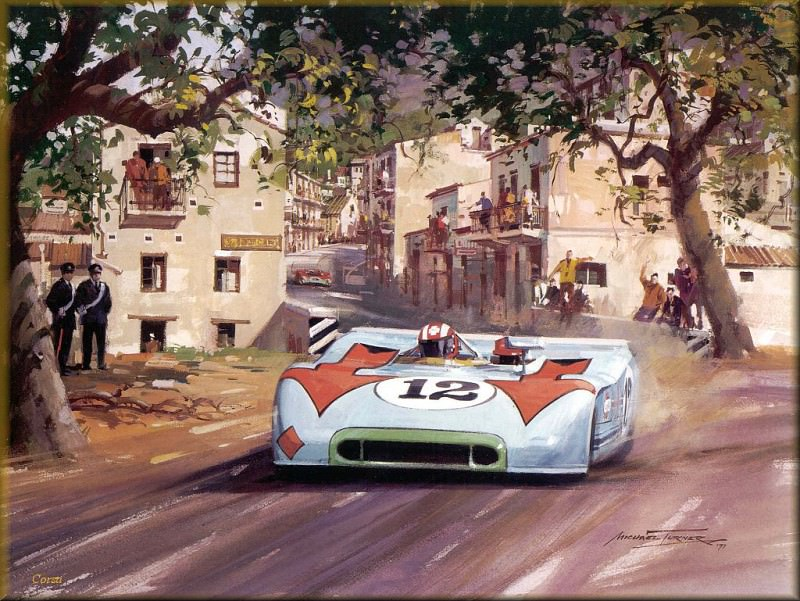 CorsaScan 026 Porche Wins The Targa Florio 1970. Michael Turner