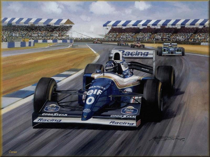 CorsaScan 041 Damon Hill wins At Silverstone 1994. Майкл Тернер